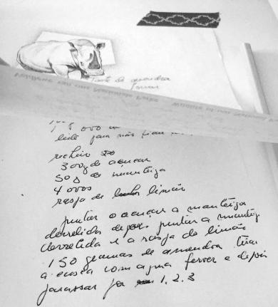 hand written recipe